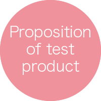 Proposition of test product